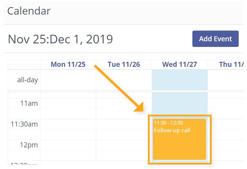 task in calendar