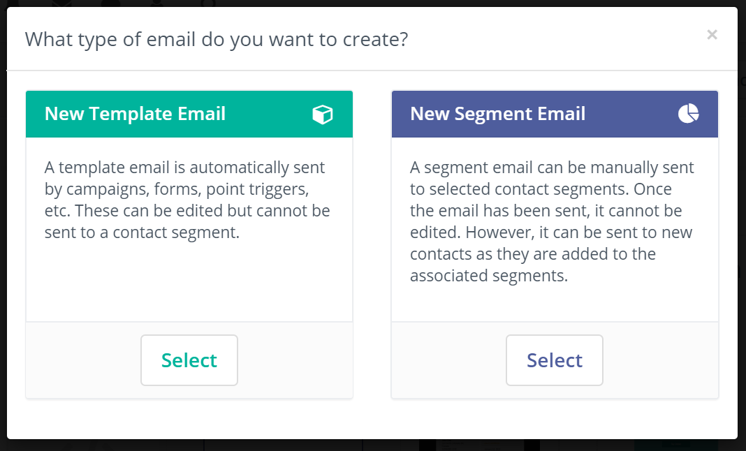 template or segment email