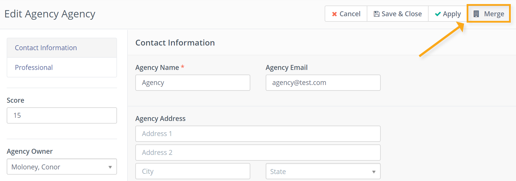 Merge agencies