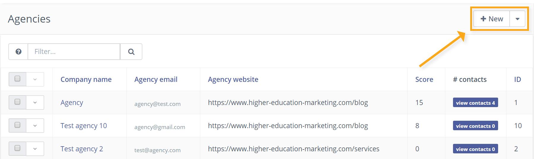 New agency