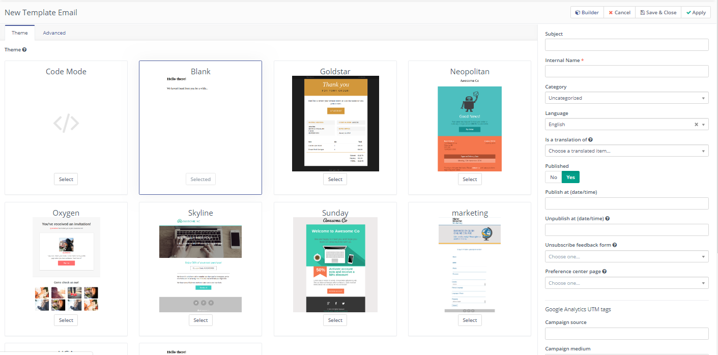 School email templates