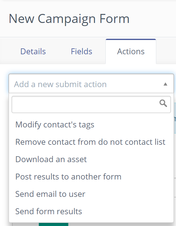 add new submit actions