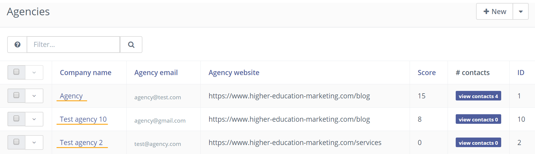 click to edit agencies