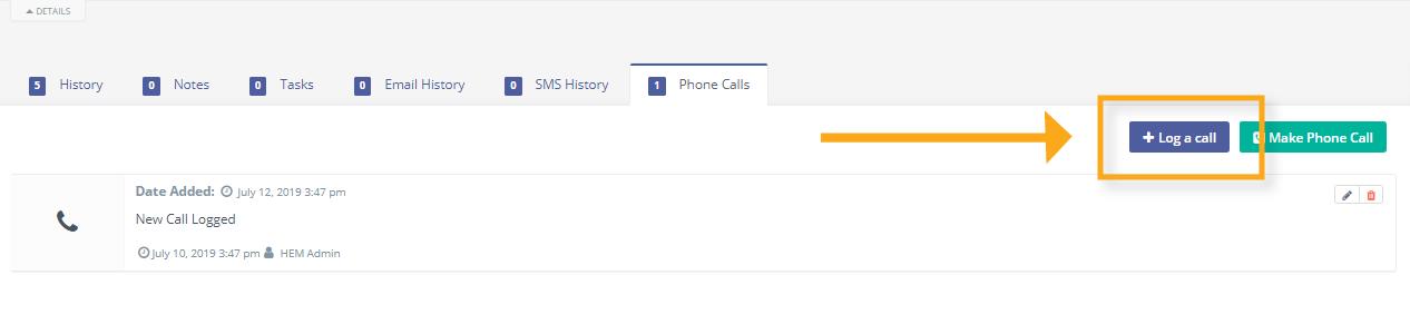 log a call