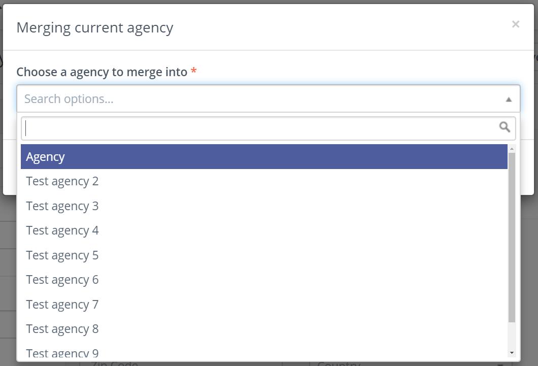 merge agency menu