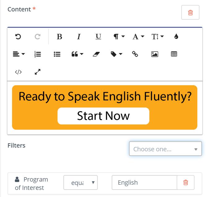 program of interest equals English