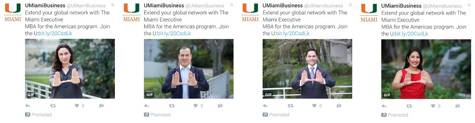 Twitter ad education example