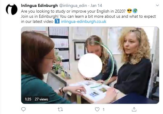 twitter ads for language schools
