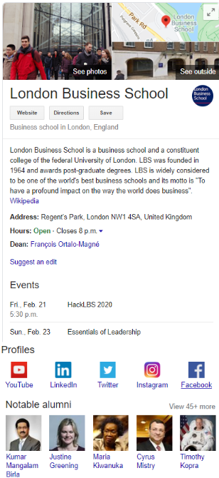 Google my Business for schools