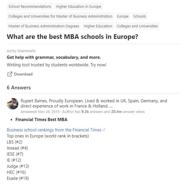 education content marketing