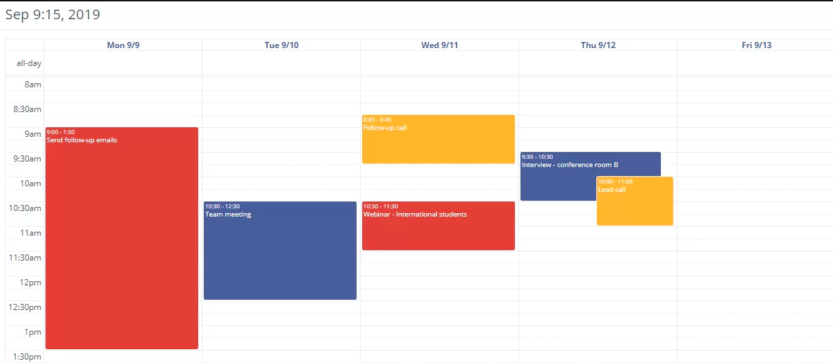 calendar crm