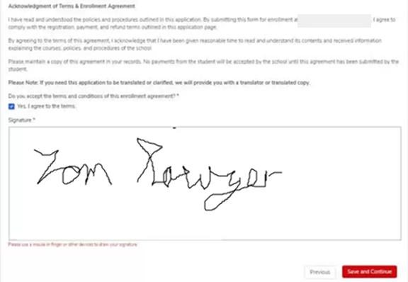 online student application