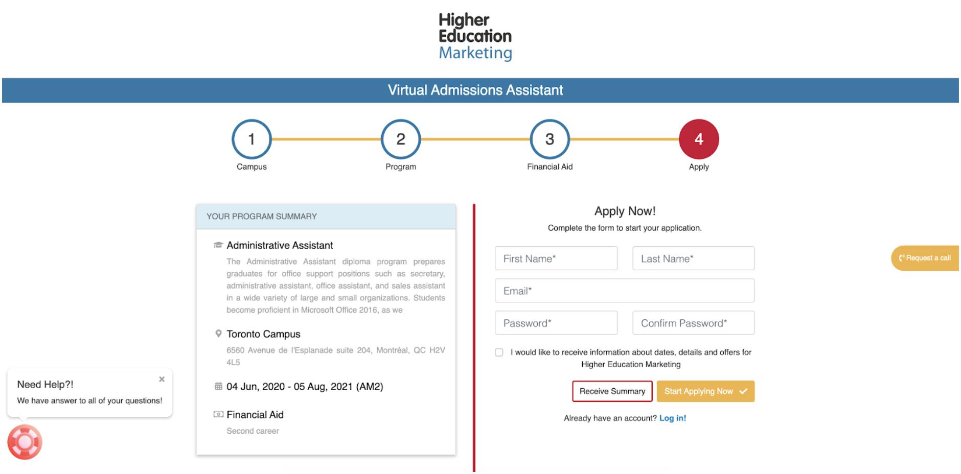 application portal schools