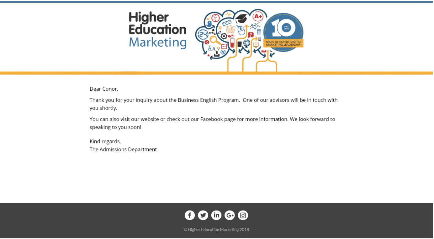 email marketing schools