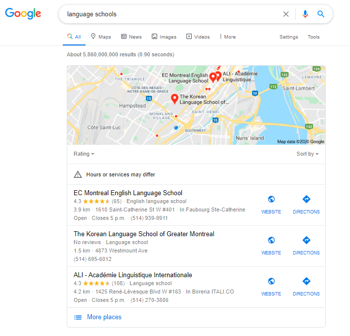 local seo for student recruitment