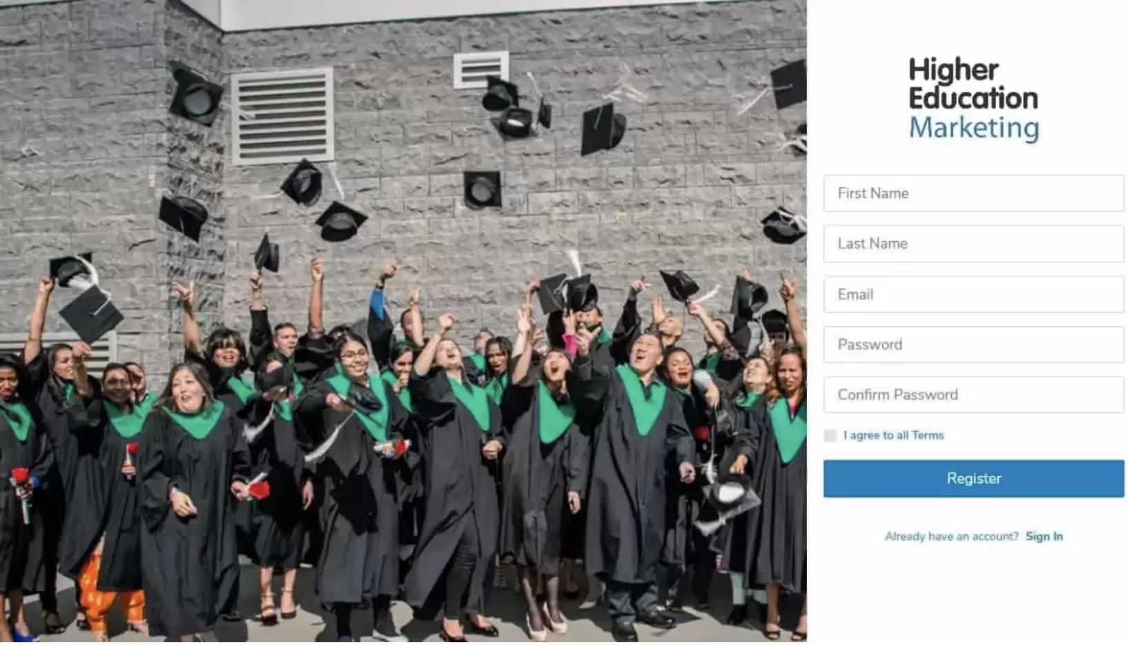 custom student application portal