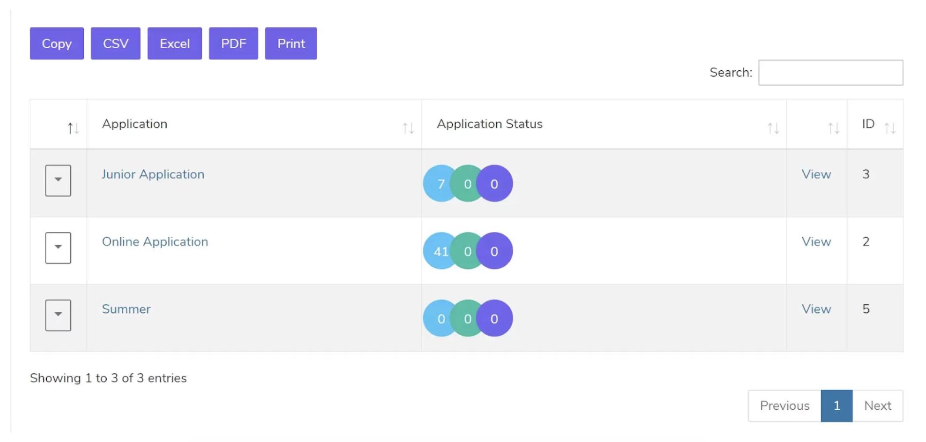 student application portal schools