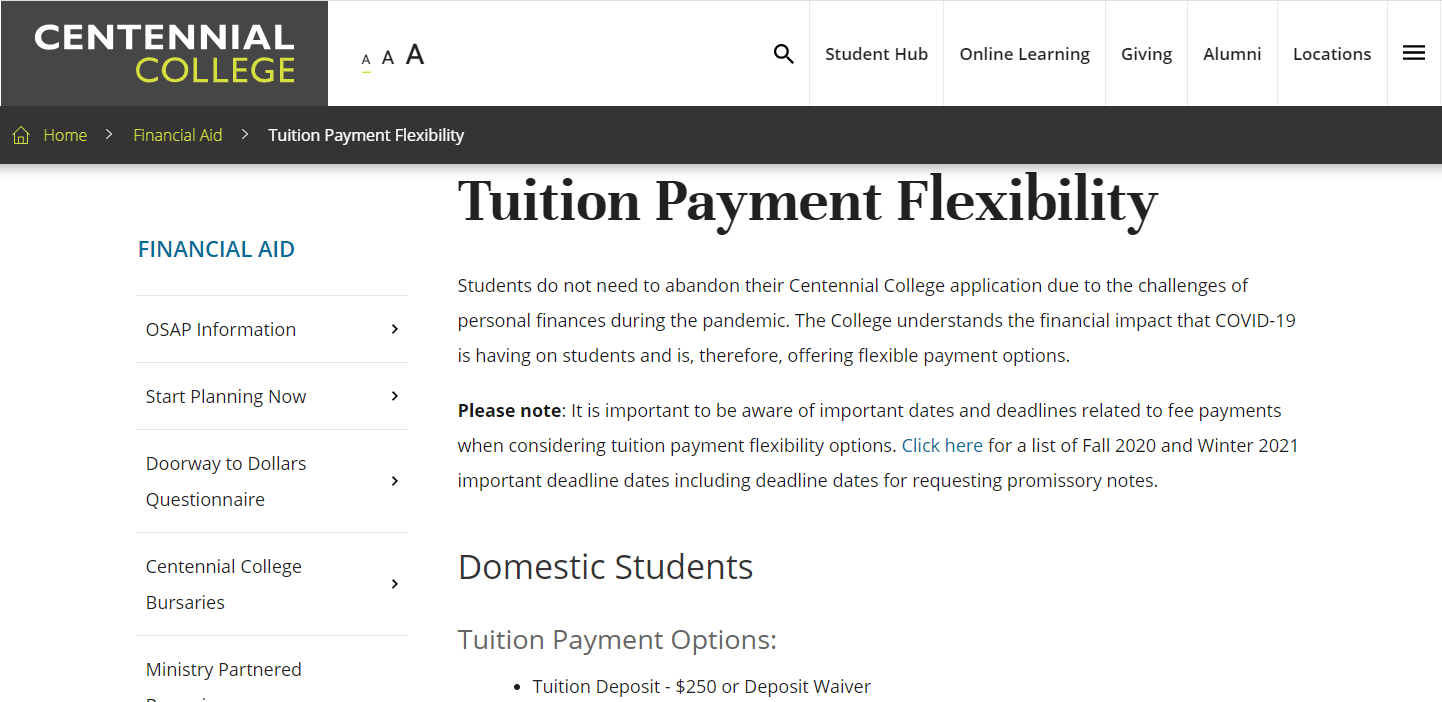 student financial aid during COVID