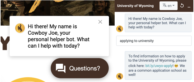 chatbots for student recruitment
