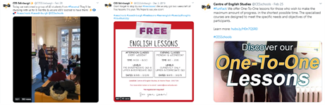 language school social media marketing