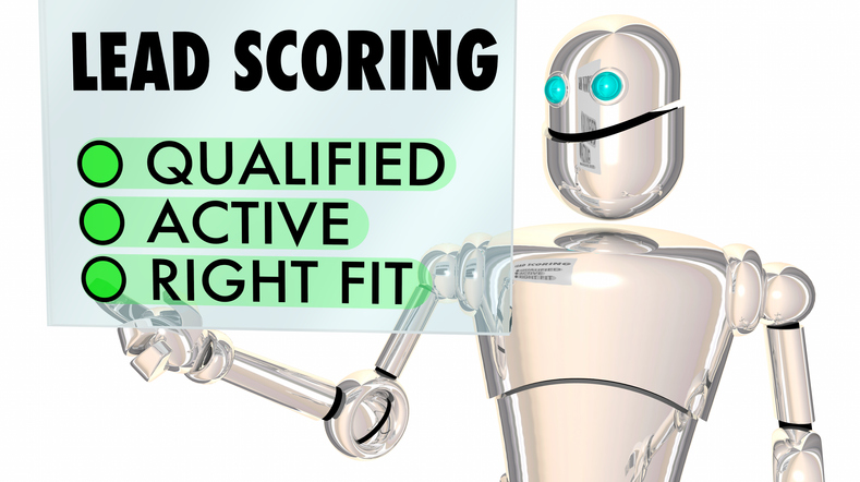 Lead Scoring Robot Qualified Active Right Fit 3d Illustration