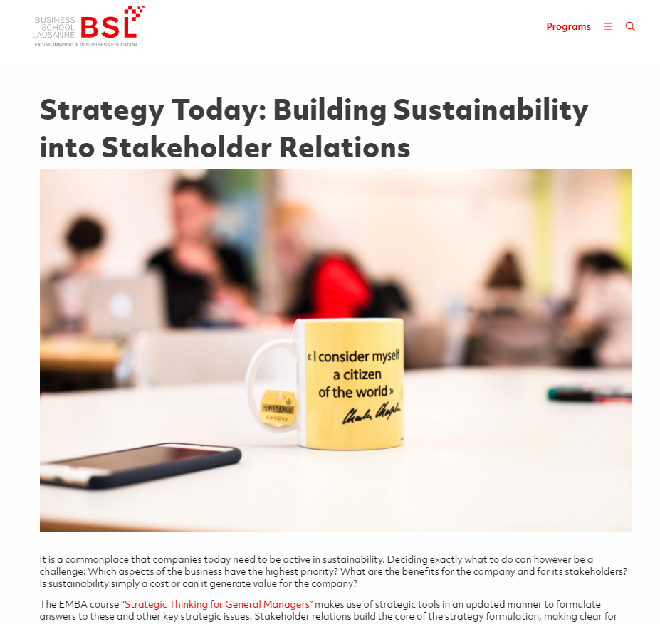 content strategy for business schools