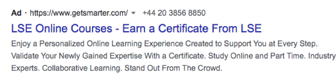 Google ads and education