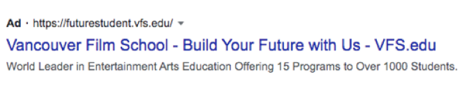 Google advertising for colleges
