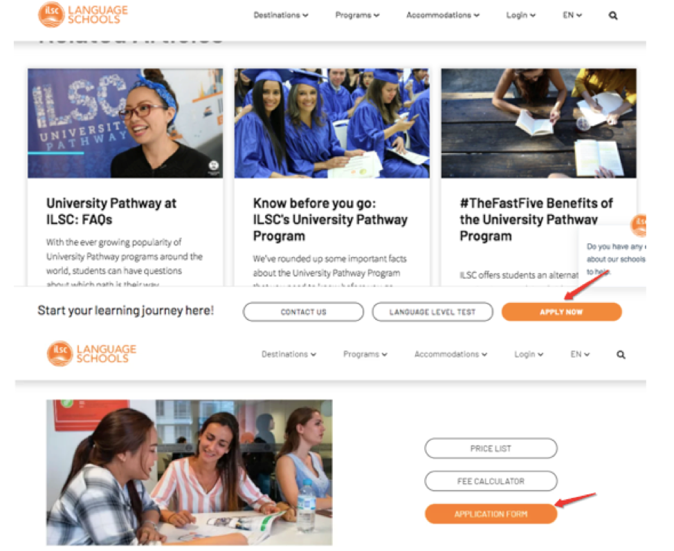 education and website design