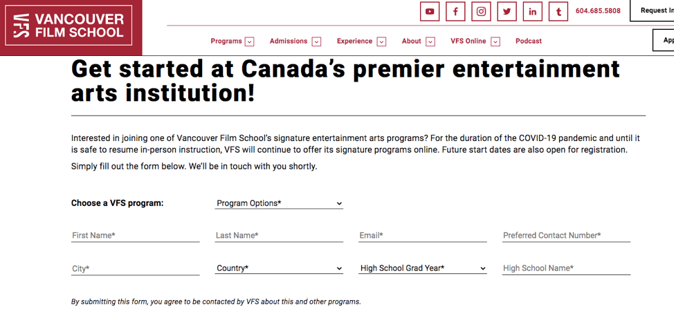 website design for education