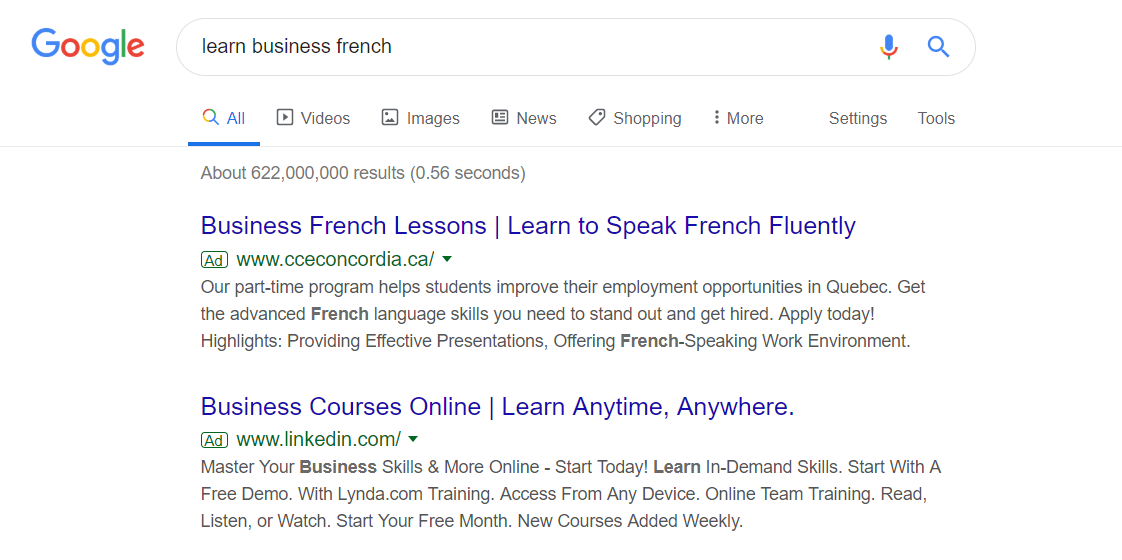 google ads for education